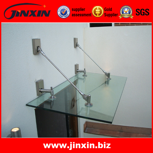 Stainless steel glass canopy for doors and windows